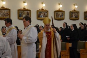 Bishop of Brno, Vojtěch Cikrle in Rajhrad on the occasion of the 100th anniversary of the founding of the congregation